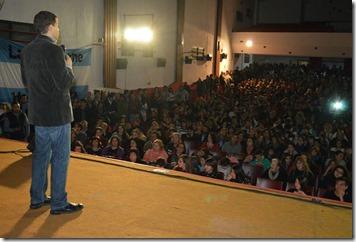 Más de 1300 personas acompañaron al intendnete en el evento en Santa Teresita
