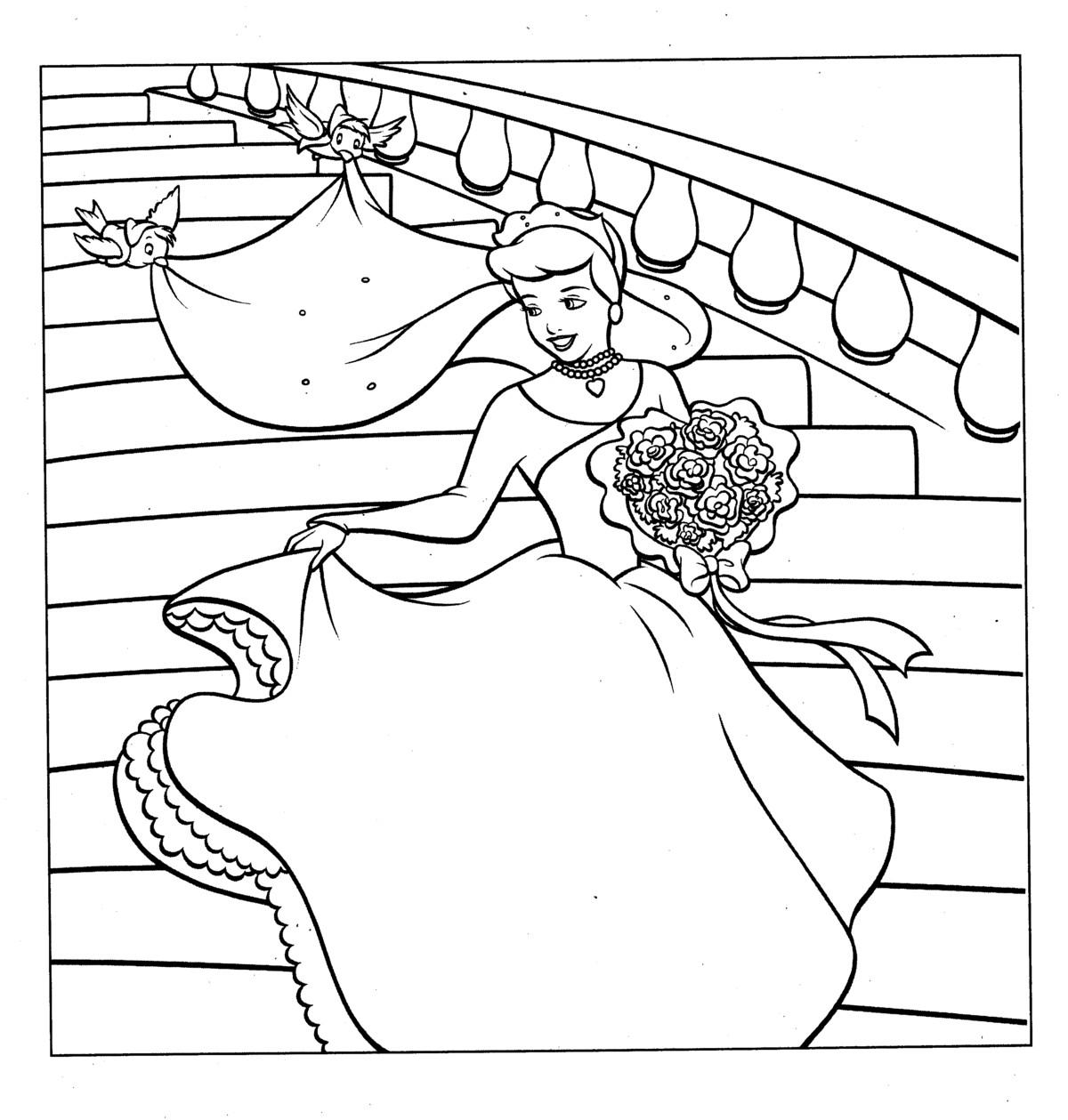 coloring pictures wedding