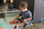 LePort Preschool Huntington Beach - Montessori infant at daycare - waterplay