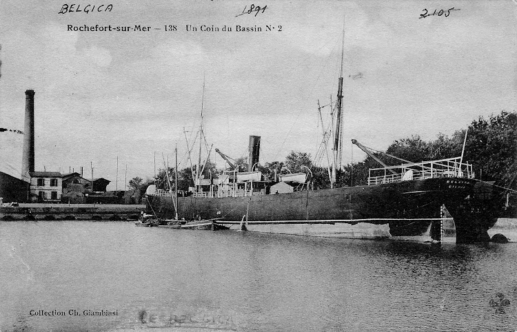 Rochefort Sur Mer. Ca. 1895. El vapor BELGICA abarloado a otro buque. Colección Jaume Cifre Sanchez. Nuestro agradecimiento.bmp
