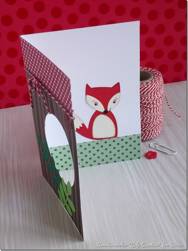 Fox card - Sizzix - Big Shot Plus - Die Cutting - by cafecreativo (2)