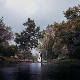 Rainy Weather by Lood Goosen (LWG Photo) - Wedding Bride & Groom ( bride, rain, wedding dress, groom, wedding photography, bride groom, weddings, wedding day, wedding photographers, brides, wedding  photographer, bride and groom, wedding )