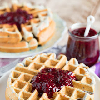 Blackberry Lemon Waffles