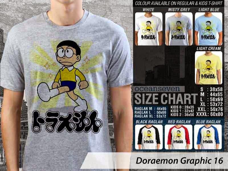 KAOS Doraemon 56 Manga Lucu distro ocean seven
