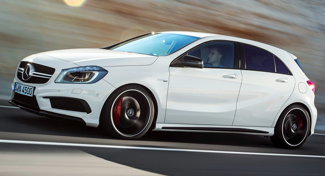 New MercedesBenz A45 AMG Comes with 350PS AWD and a 7sp Dual