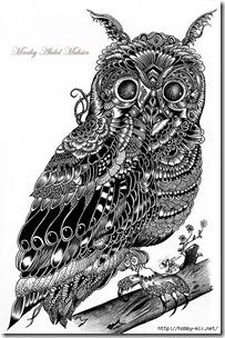 dibujos de buhod en blanco y negro (4)