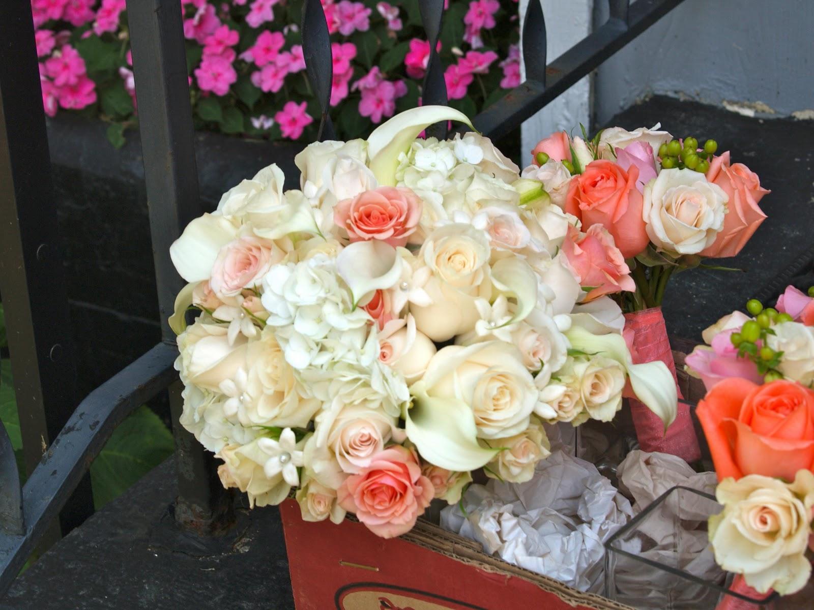 Bridal bouquet of hydrangea,