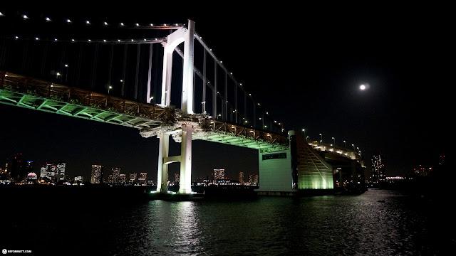 rainbow bridge in Tokyo in Tokyo, Tokyo, Japan