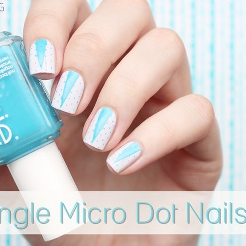 [Nail Art] Triangle Micro Dot Nails