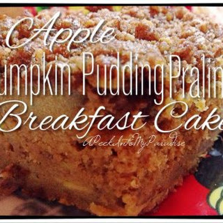 Apple Pumpkin Pudding Praline Breakfast Cake