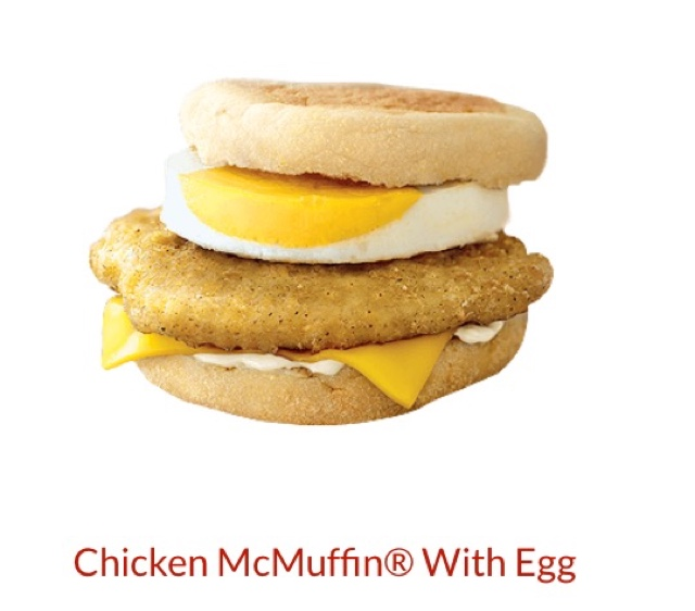 McDonald's Chicken McMuffin with Egg