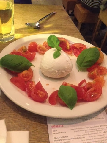 Tomato and mozzarella - Insalata Caprese at Vapiano