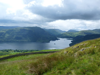 Looking to Ullswater as the sun comes out.