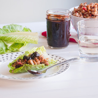 Chicken Lettuce Wraps with Homemade Plum Sauce