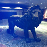 Sculptures at the Kalahari hotel in OH 02192012c