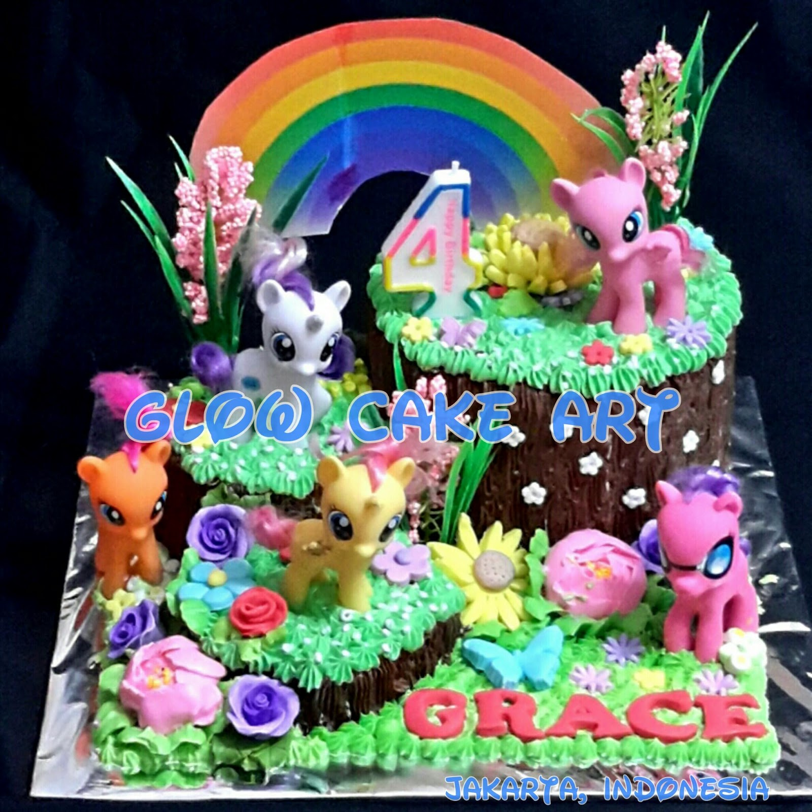 mommy cake and cookies glow cake art my little pony cake