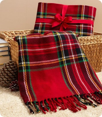 tartan throw b&n