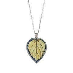 Uncommon goods leaf necklace