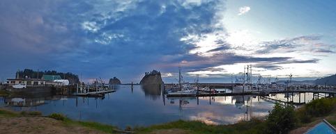 La Push Ocean Sunset from Marina