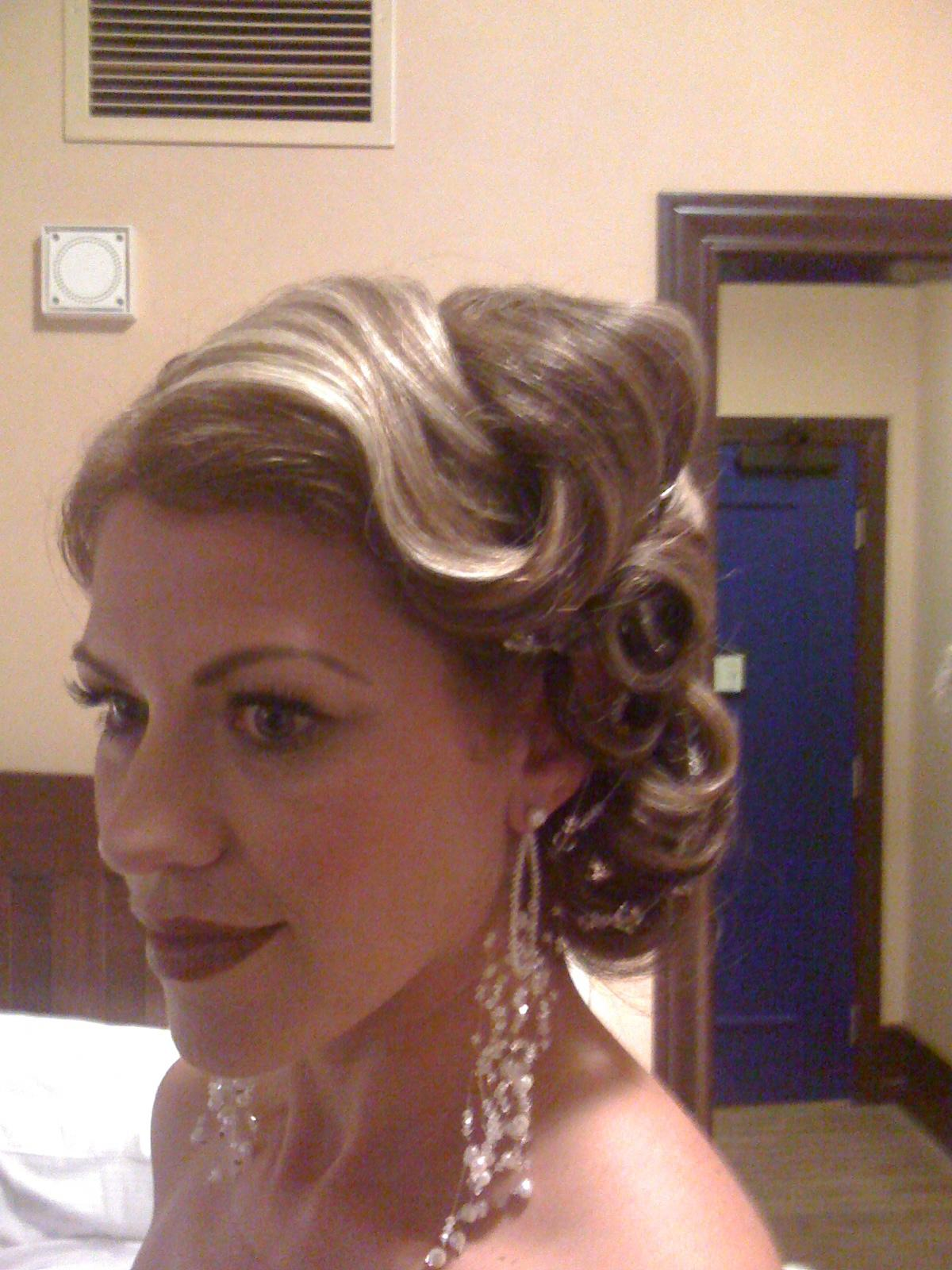 wedding updos with flower and