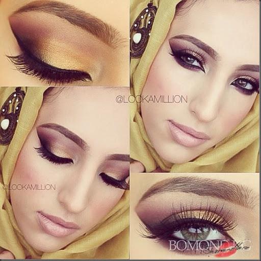 макияж арабские глаза видео