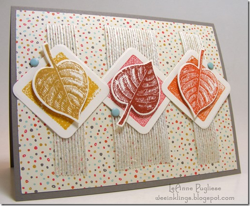 LeAnne Pugliese WeeInklings TSOT240 Vintage Leaves Stampin Up