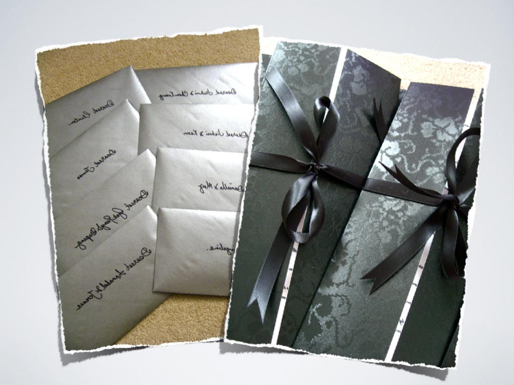 dark silver envelope.
