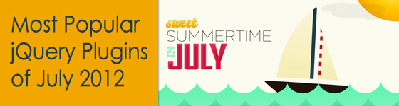 Top jQuery Plugins of July 2012