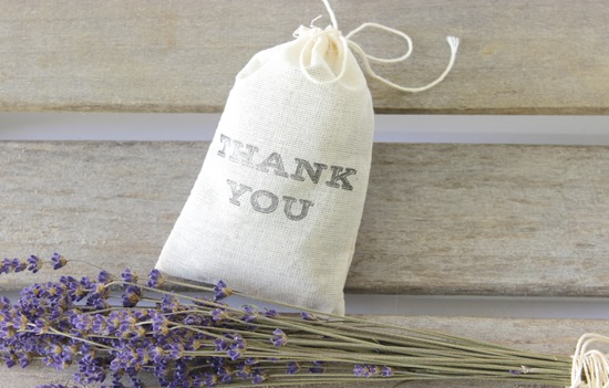 Wedding Favor (Lavender Filled Cotton Muslin Bag) from Simple is Pretty Shop