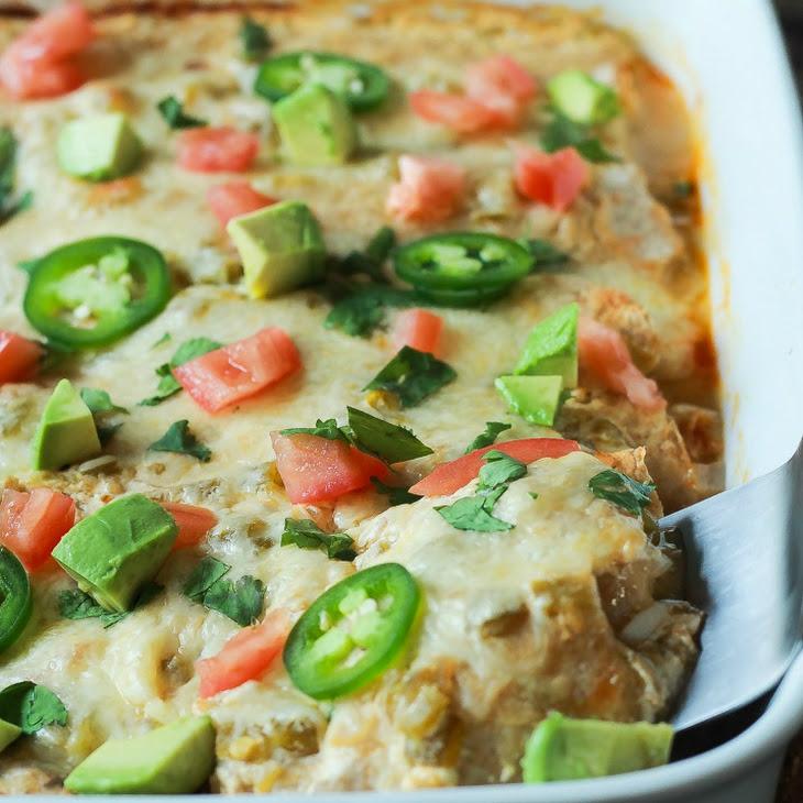Chicken Enchiladas with Creamy Green Chili Sauce Recipe   Yummly