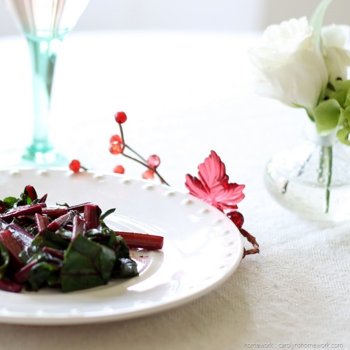 Sauteed Beet Greens via homework (7)