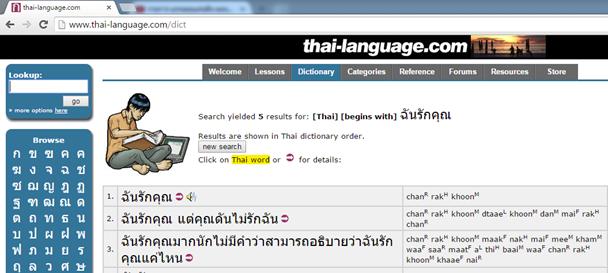 เวบไซต์เรียนรู้ภาษาไทยเป็นอังกฤษ