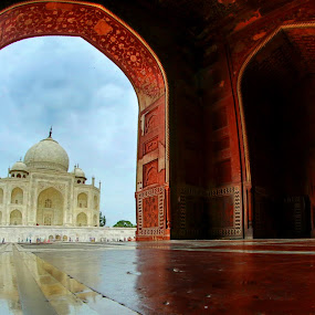 Taj Mahal by Dhritiman Lahiri - Buildings & Architecture Public & Historical ( taj, dhritiman lahiri, dhritimanlahiri, incredible india, architecture, uttar pradesh, mumtaz mahal, history, shah jahan, iclickweddings, natgeo, taj mahal, monument, india,  )