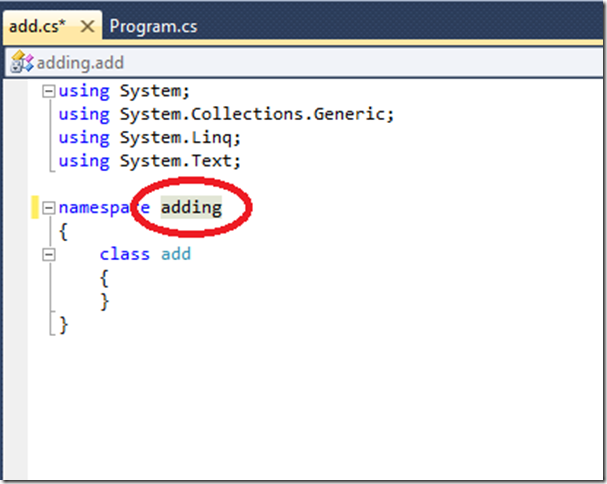 namespace-adding