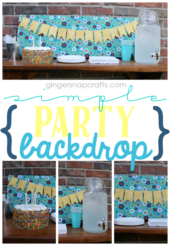 Simple Party Backdrop at GingerSnapCrafts.com   #makeitfuncrafts #sponsored