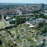 view from the atomium in brussels in Brussels, Brussels, Belgium
