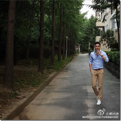 Choi Siwon 崔始源 in baby blue 01