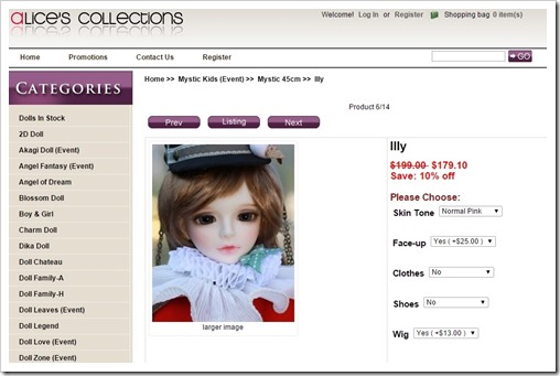 Mystic Kids Illy at Alice's Collections