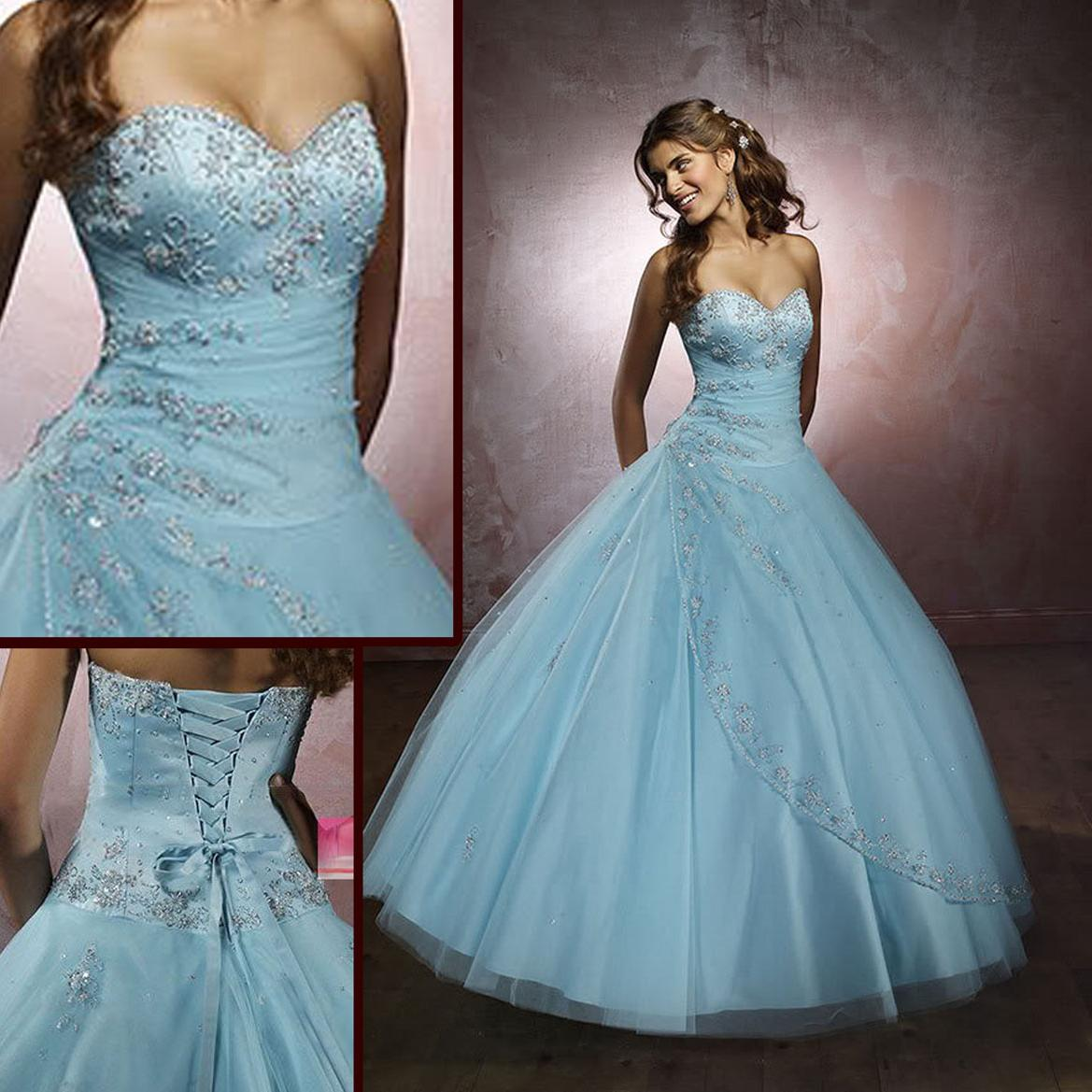 Light Blue Prom Party dress