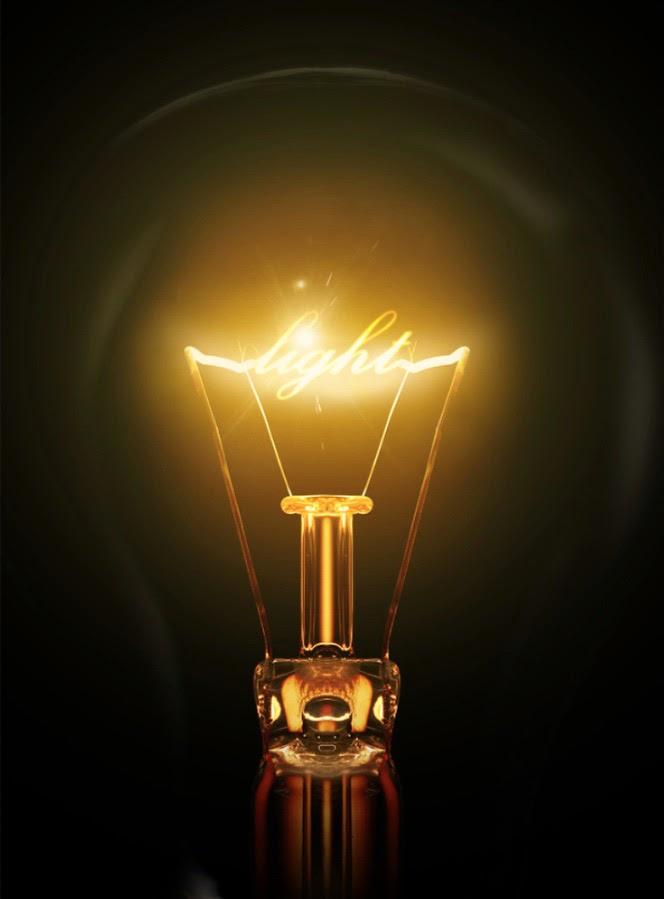 efek teks lampu