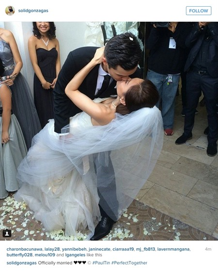 Paul-Celestine wedding - the kiss 2