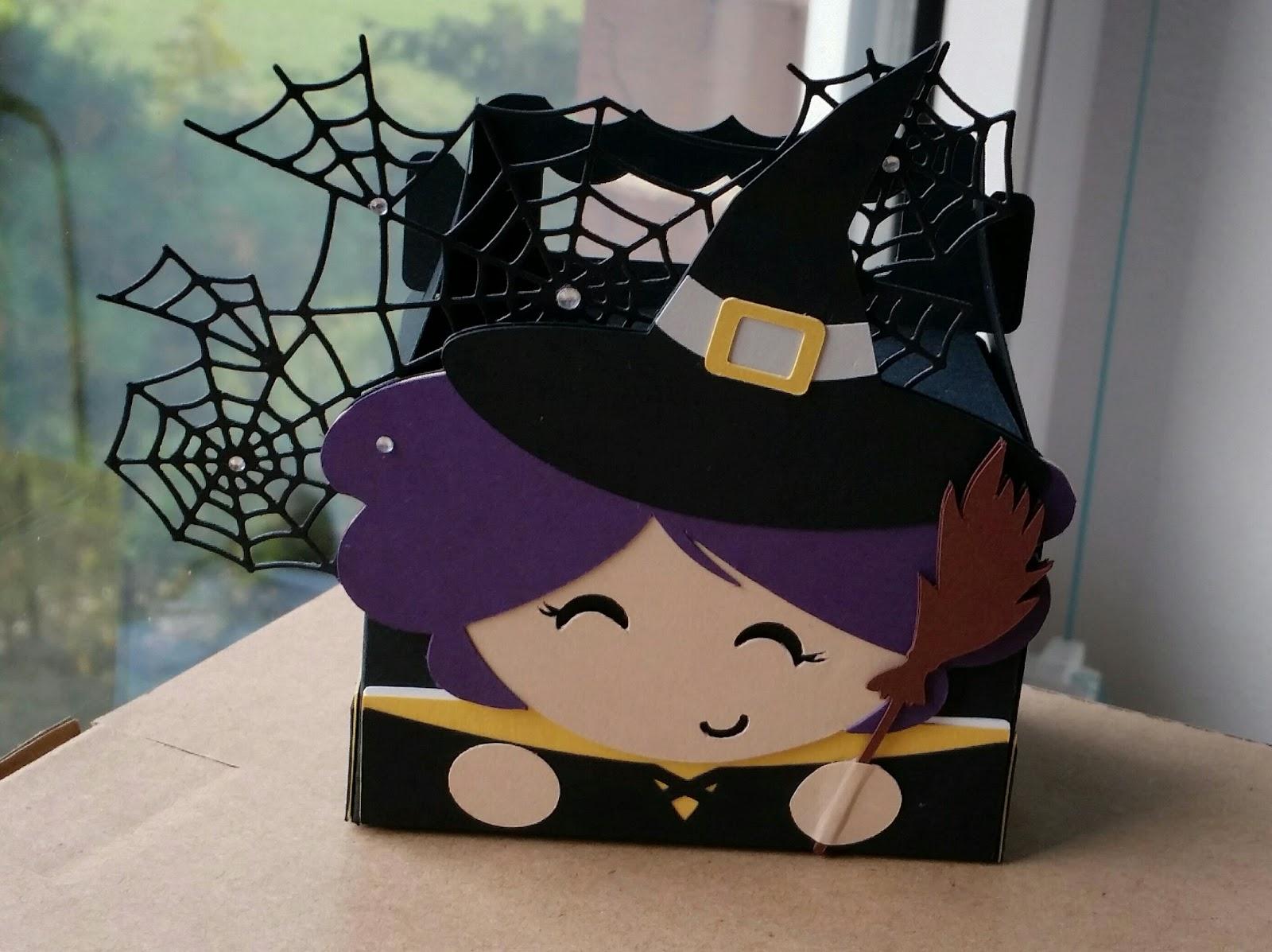 Bastelteufelchen: Halloween Box/ unsichtbare Falzlinien mit der ...