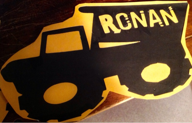 Ronan Loved The Trucks And Everyone Was So Amazed By Personalization Really Fun To See His Name On Them