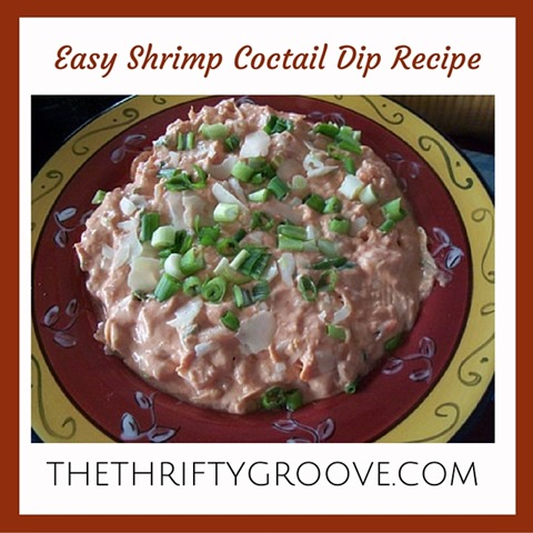 Make this yummy and easy shrimp cocktail dip for your next holiday get together. Such a tasty and simple recipe to make. Perfect for an appetizer at Thanksgiving or Christmas.