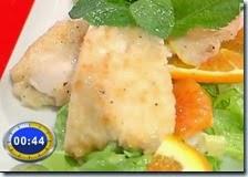 Pollo al limone con insalatina di agrumi