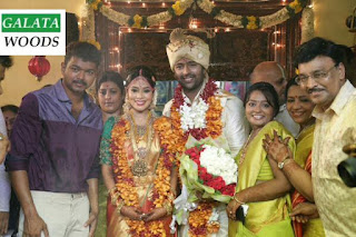 Shanthnu Marriage Images With Vijay Blessings