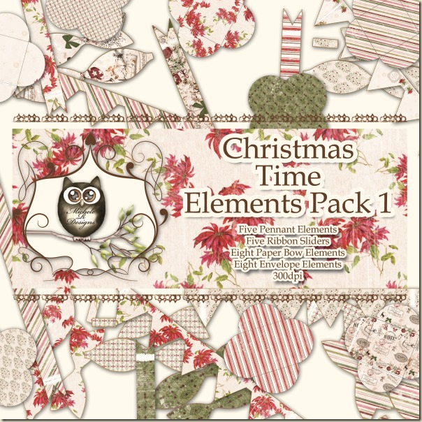 Christmas Time Elements Pack 1 Front Sheet