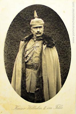 Cesarz Wilhelm II na polu walki
