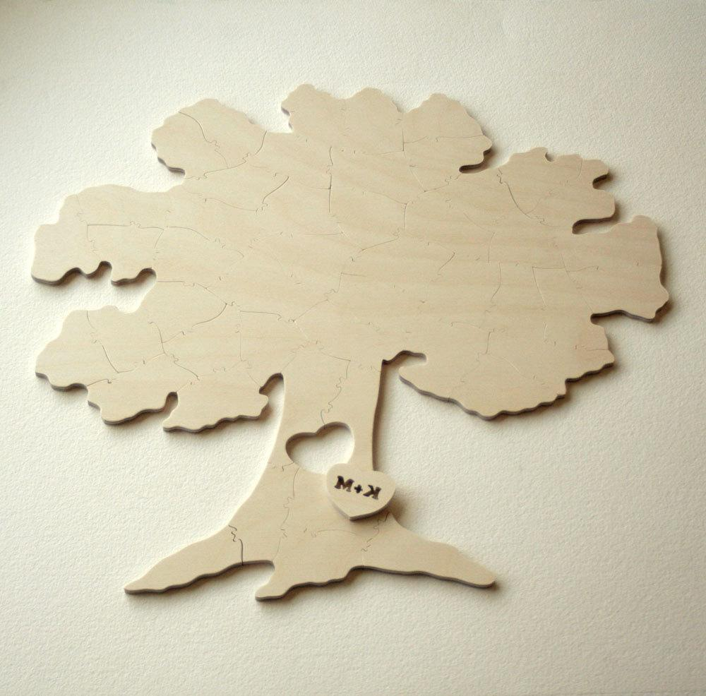 Wedding Guest Book TREE Puzzle  A guest book alternative  20 pieces