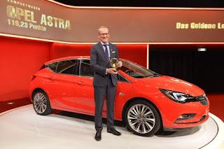 Opel : La nouvelle Astra remporte le « Volant d'Or 2015 » chez les compactes